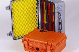 PeliCase with coloured foam packx535